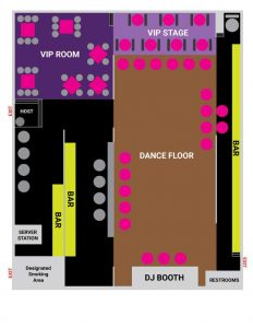Tierra Nightclub Floor Plan