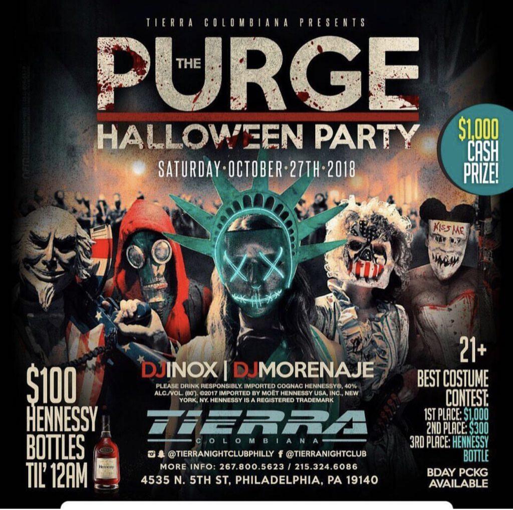 purge halloween party - tierra nightclub